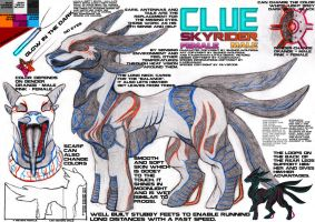 Clue Skyrider -Reference Sheet- by Equive