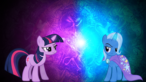 Twilight Sparkle and Trixie Wallpaper 1920x1080 by MapaFapa