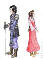 Warrior and Damsel by Nimphaiwe