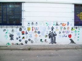 Wall full of Stickers 2 by Starshot-seeker