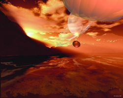 The Huygens probe at Titan by DoctorV23