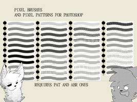 Pixel brushes and patterns for photoshop by D3lDARA-Resources
