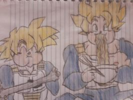 Goku and Gohan xD by LotusRegularFan