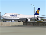 Lufthansa 747-8 at LOWW by TrellBrown23
