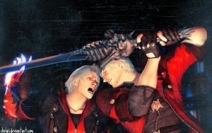 Nero and Dante DMC4 Wall by shulaii