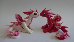 Dragons aux roses by krisclay74