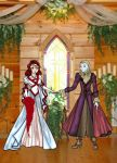 Faith + Dead Rose Get Married by enkeli19
