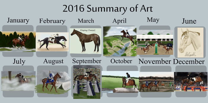 2016 Summary of Art by Spotted-Tabby-Cat