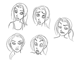 Chell Face Practice 1 by Py-Bun