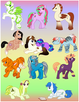 Their Little Ponies Set 1 by clumzyme123