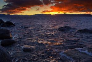 Pleasant Tahoe Sunset by sellsworth