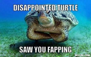 Disappointed Turtle by PassionateMasochist