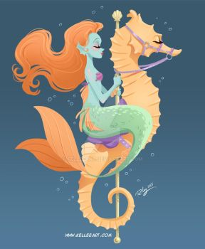 Mermaid Carousel #1 by KelleeArt