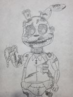 Golden Bonnie FnaF 3 (Quick Sketch) by KriztianMilanes