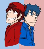 Red and Blue by Anipul