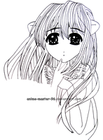 Lucy - Elfen Lied - Inking 2 by anime-master-96
