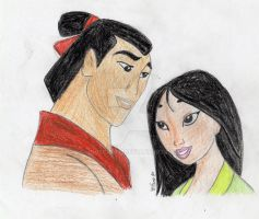 Mulan and Shang by House-Girl