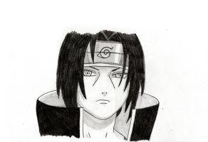Itachi sketch by TheFlyingPug