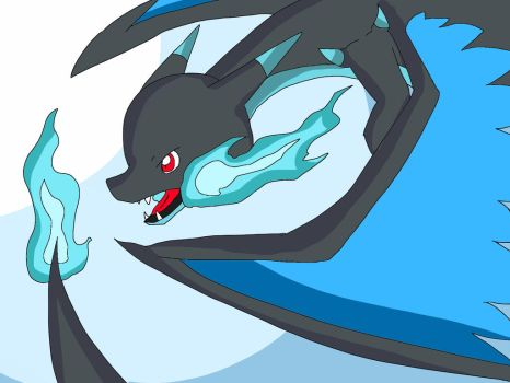 Mega Charizard X by Onlinesafety222