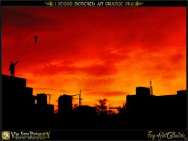 I Stood Beneath An Orange Sky by ratulupadhyay