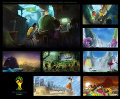 Fifa World Cup Brasil 2014 Initial Mood Boards by SeanDonaldson