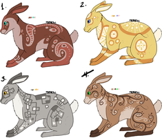 Rabbit Adotables 2 [Open 2/4 left] by Squidoptables