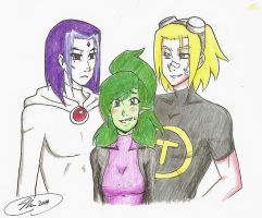 Love Triangle-Genderbent! Beast Girl/Draven/Terra by MESS-Anime-Artist