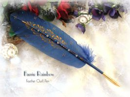 FAERIE RAINBOW Feather Pen by ChaeyAhne