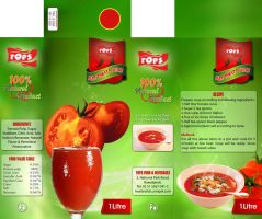 tomato juice packagigng by xishan1
