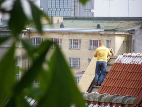 Rooftops and lifeguards by monkeyonattack