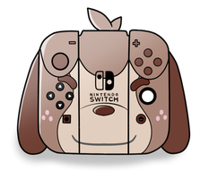 Digby Themed Nintendo Switch by LucarioOcarina