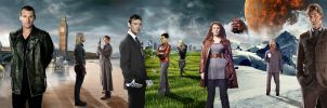 DOCTOR WHO - 10TH ANNIVERSARY BANNER 9th - 10th by Umbridge1986