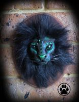 SOLD Forest guardian lion wall art sculpture. by CreaturesofNat