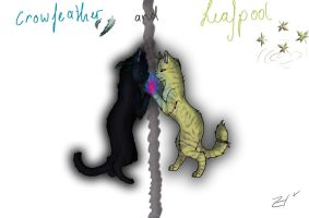 Crowfeather and Leafpool by Espenfluss
