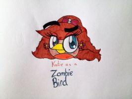 Katie as a Zombie Bird by RussellMimeLover2009