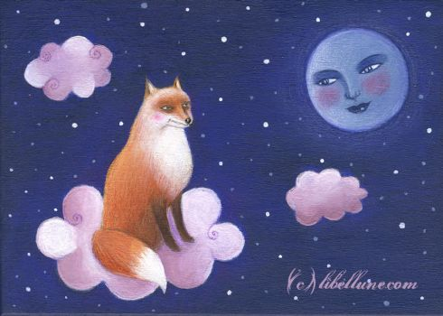 The fox and the Moon by Neyrelle