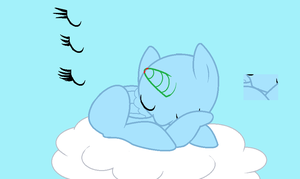 MLPFIM Base - Sleeping on a cloud by Pupster0071