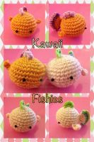 Crochet: Kawaii Amigurumi Fishies by EvaBlondie