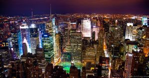 NYC at Night by DavidVogt