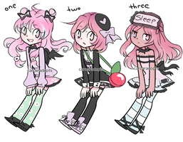 pastel goth adopt trio CLOSED by carcaradopts