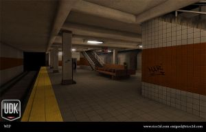 WIP Subway Scene by AutopsySoldier