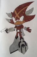 X the Hedgehog (Umbra Catervae) by ArtKing3000