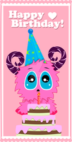 Happy Birthday [pink monster] by EdaHerz