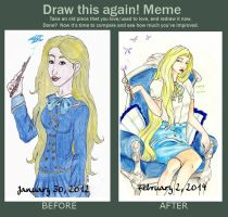 Before After Fleur Delacour (2 years) by lunalove2