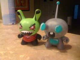 Invader Zim Gir Dunny Vinyls by Frazzy626