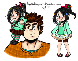 Wreck-It Ralph Sketches by LightDarkSoySauce