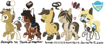 Natty Pony Adopts (secretmonsters base) by SpatialHeather