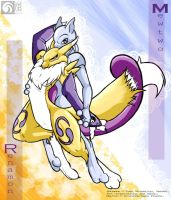 Renamon and Mewtwo - final by kompy