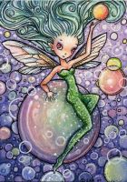 Bubble Fairy, ACEO ATC by stevenshipman