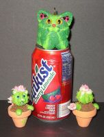 Wee Cactus Cats by crokittycats